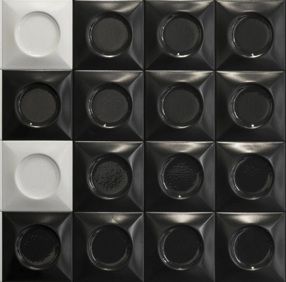Flisen «Goccia» er designet avselveste Lenny Kravitz  (kr180/stk., Flisekompaniet).  Foto: Produsenten