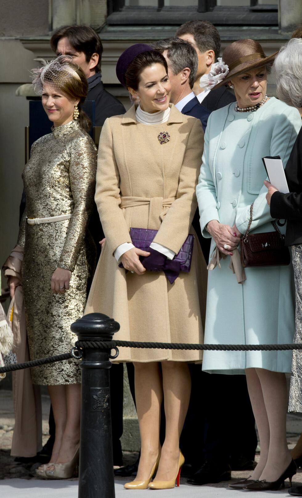 KONGELIGE GJESTER: Fra Norge stilte prinsesse Märtha Louise og Ari Behn, mens kronprinsesse Mary representerte Danmark. Foto: DPA