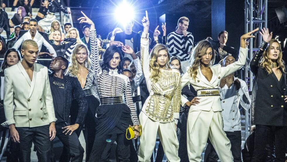 H&M SAMARBEID: Kolleksjonen Balmain x H&M (avbildet) var en stor suksess. Nå skal nok et franskt motehus prøve seg - Kenzo er neste designer ut. Foto: Rex Features