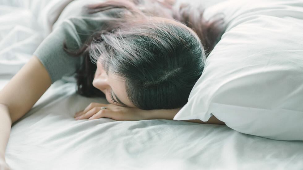 SNORKER: Snorking er ett av de vanligste symptomene på søvnapné. Foto: Shutterstock / dreamstory