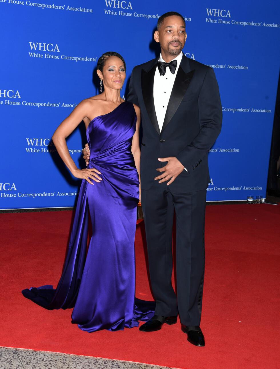 DET HVITE HUS: Jada Pinkett-Smith og Will Smith. Foto: Pa Photos
