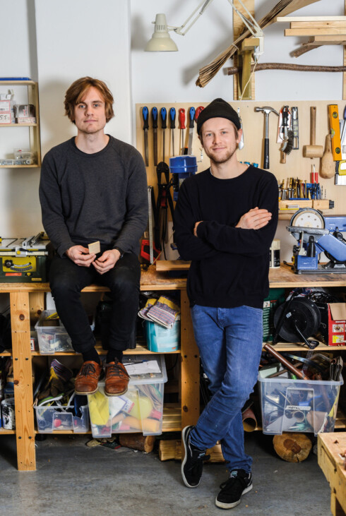 KNEIP: Stian Korntved Ruud og Jørgen Platou Willumsen utgjør det kreative kollektivet Kneip. Foto: Christina Gothe Schultz