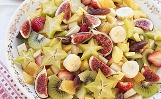 #Koselørdag: Fruktsalat med råkrem
