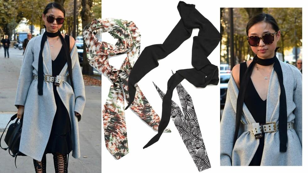 <strong>DAGENS ANTREKK:</strong> For å gi antrekket et løft, er det så lekkert å bruke en slikt sjal! Foto: Scanpix, Produsentene, Asos.com