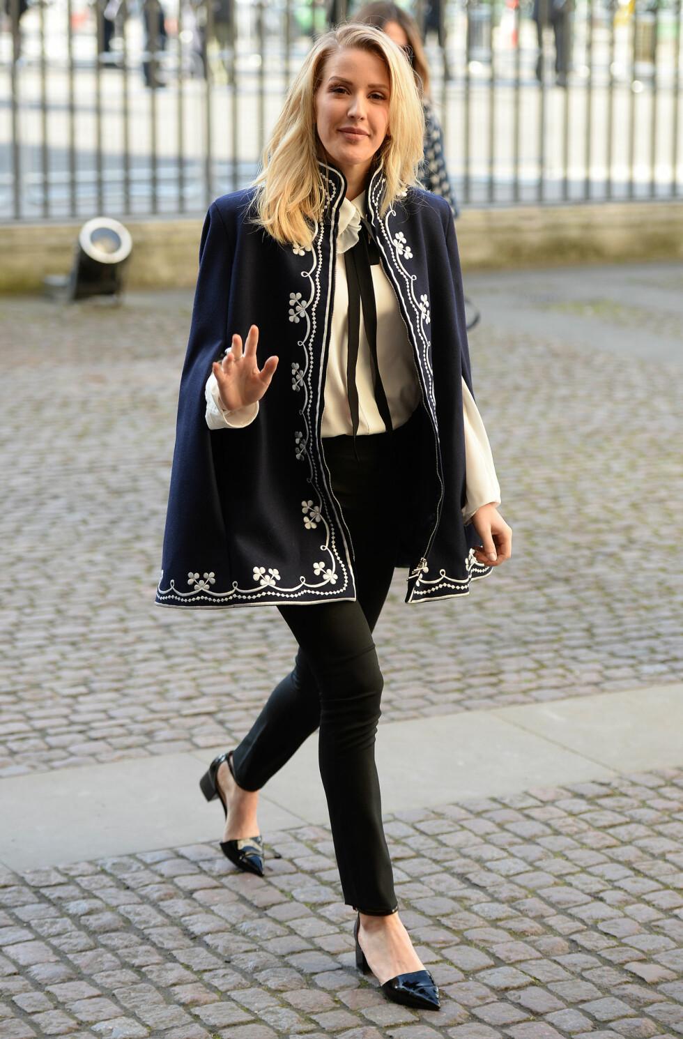 KUL: Bildet artisten la ut på Instagram ligner ikke helt på stilen Ellie Goulding vanligvis har. Foto: Splash News