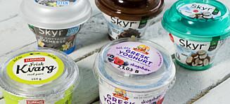 Vi har testet yoghurt-, skyr og kvargnyhetene med smak