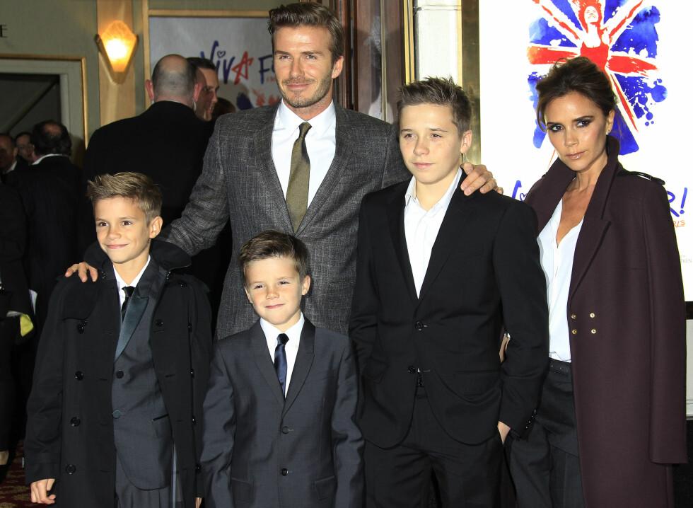 THE BECKHAMS: Det er ingen tvil om at Victoria og David Beckham har oppfostret noen svært talentfulle barn. Foto: NTB Scanpix