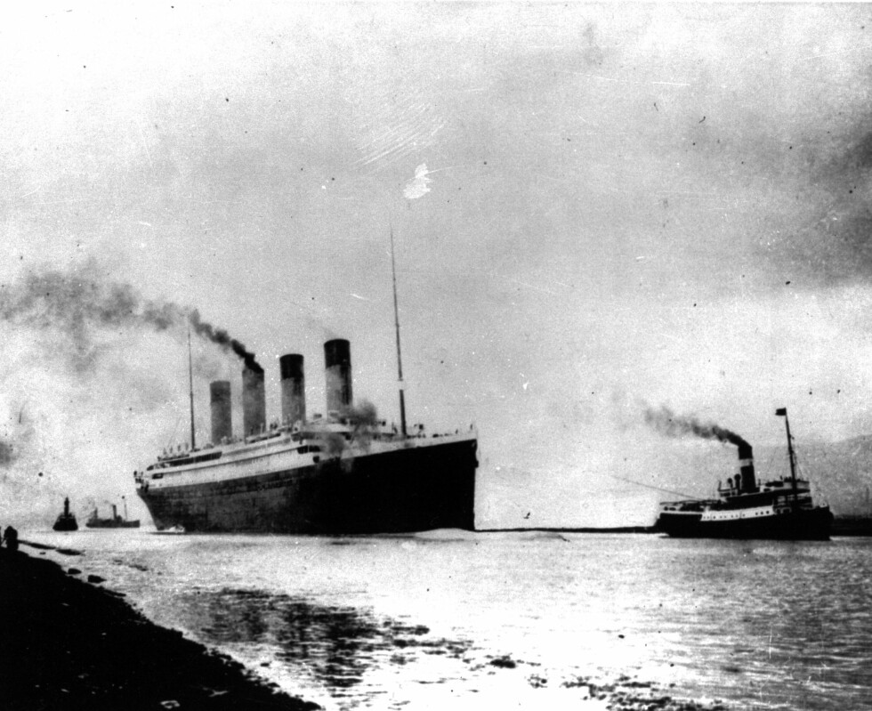 104 ÅR SIDEN: 10. april 1912 la luksus-skipet Titanic ut fra Southampton i England. Destinasjon var New York på andre siden av Atlanteren. Så langt kom de dessverre aldri - fire dager senere sank skipet som aldri kunne synke. Foto: NTB Scanpix
