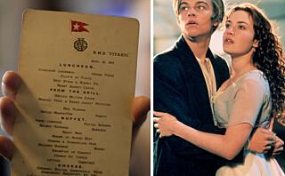 Dette fikk Titanic-passasjerene servert for 104 år siden