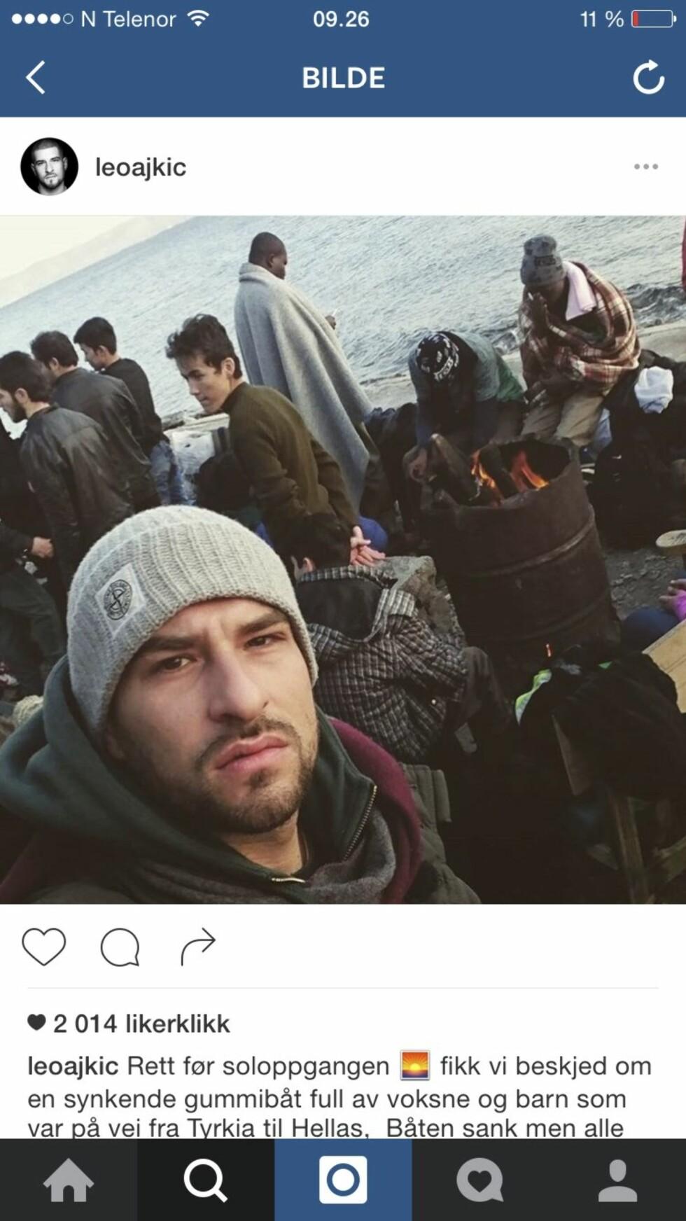 Rett før solnedgang fikk Leos team beskjed om en synkende gummibåt full av flyktninger.