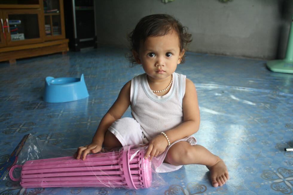 ... og at barna som ventet dem iThailand, var de peneste i verden. Foto: Privat
