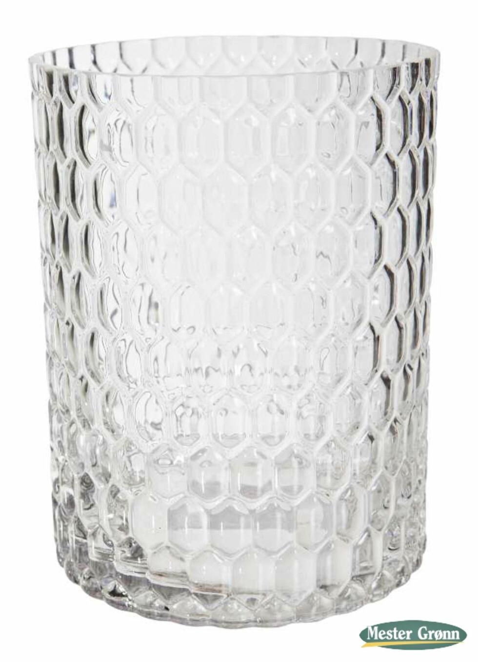 Glassvasen «Låtefoss», 20cm høy (kr 120, Mester Grønn). Foto: Produsenten