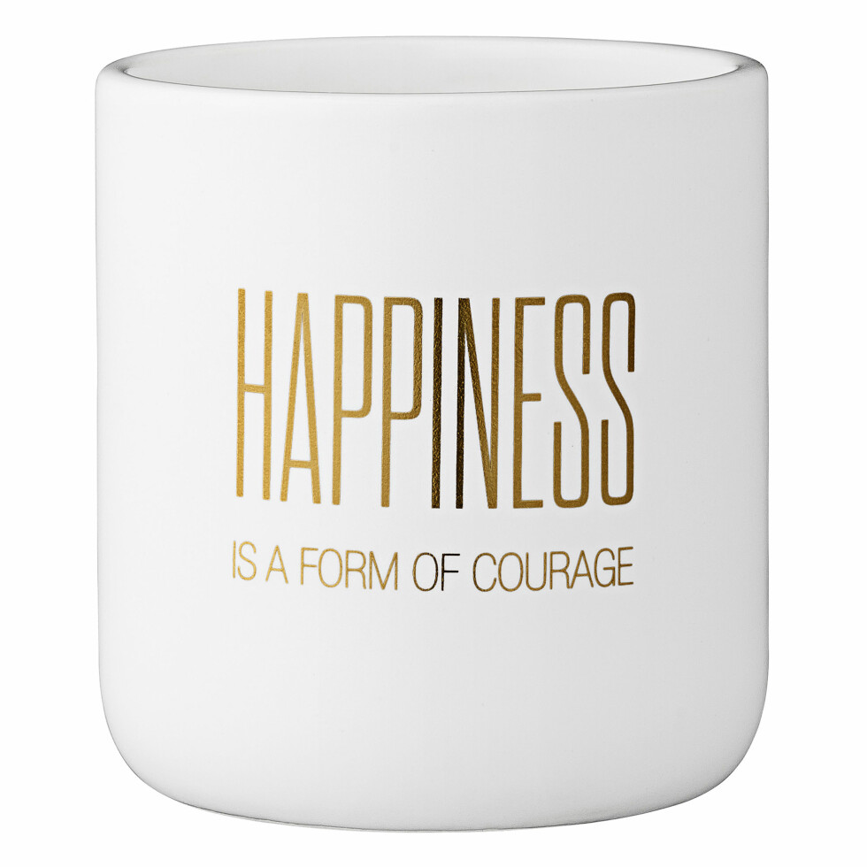 Urtepotten «Happiness», 10,5 cm høy (kr 159, Bloomingville). Foto: Produsenten