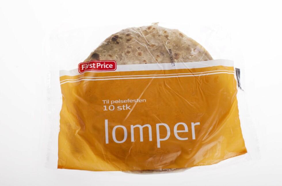 <strong>BILLIG OG BRA:</strong> Potetlompene fra First Price inneholder mindre proteiner enn mange andre lomper, men har også færre kalorier enn for eksempel de populære speltlompene fra Buer.  Foto: Scanpix