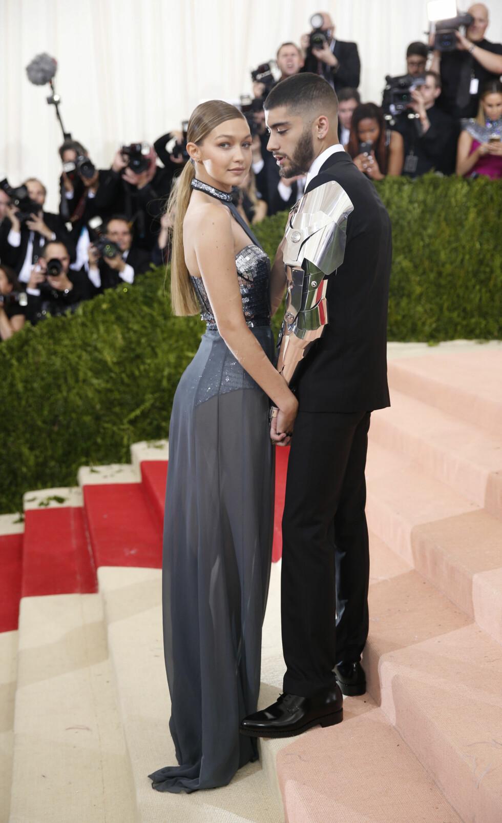 MET GALLA 2016: Gigi Hadid og kjæresten Zayn Malik. Foto: Reuters