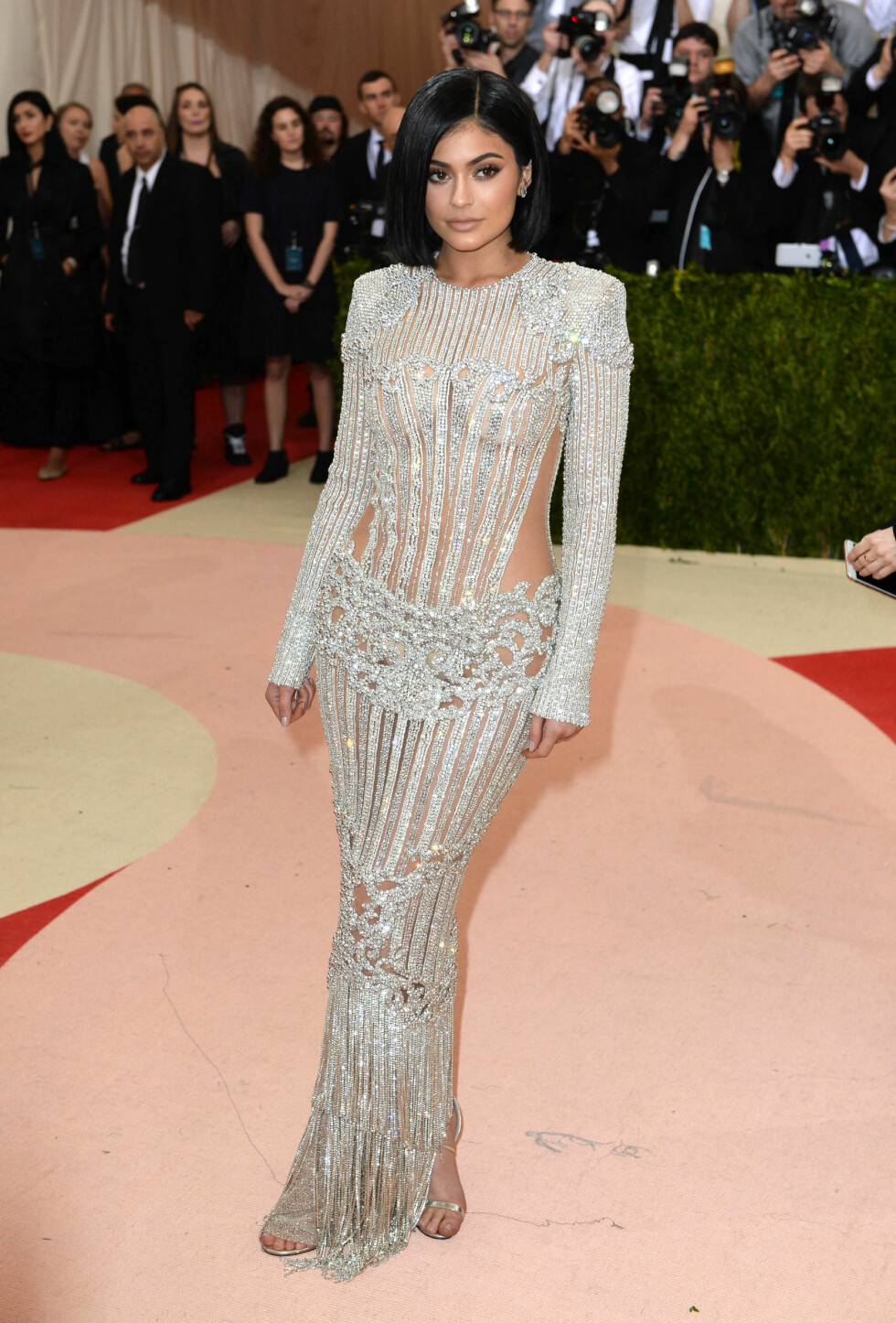 MET GALLA 2016: Kylie Jenner i Balmain. Foto: Pa Photos