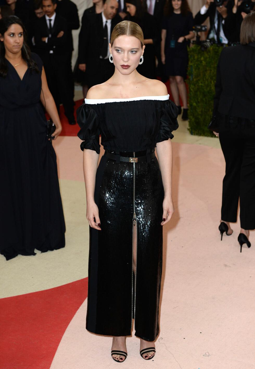 MET GALLA 2016: Lea Seydoux i Louis Vuitton. Foto: Pa Photos