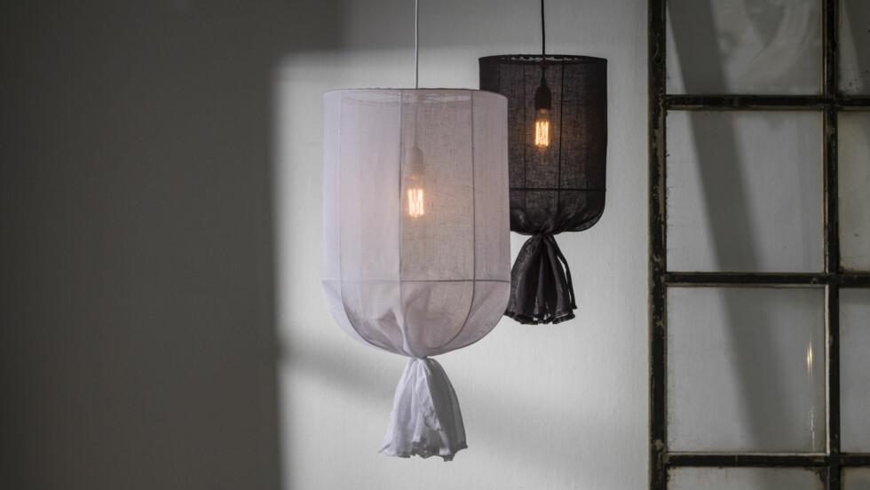 Hva synes du om den nye lampetrenden - stofflamper? Foto: Ellos.no