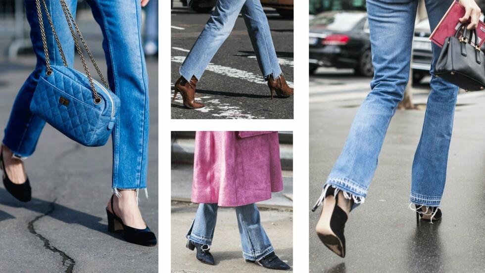 KLIPP AV JEANSEN: For en frynsete, trendy look! Foto: Scanpix