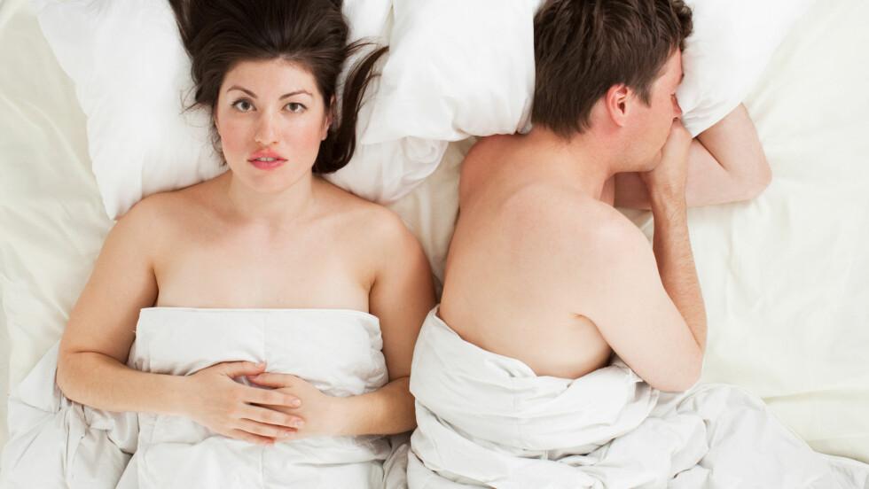 ORGASME: En leser forteller at kjæresten, selv etter guiding og råd, ikke klarer å tilfredsstille henne.  Foto: Shutterstock / varuna
