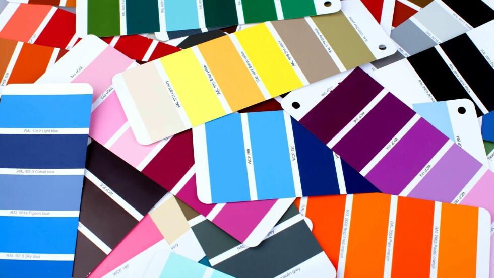 FARGER: Bruker du rødt, grønt, gult eller blått vil du bli oppfattet av andre på helt forskjellige måter! Sjekk ut hva de forskjellige fargene betyr nederst i saken. FOTO:: Shutterstock / www.BillionPhotos.com