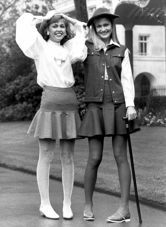 1981: Modellene poserer for Mary Quants høstkolleksjon i 1981.  Foto: Topfoto