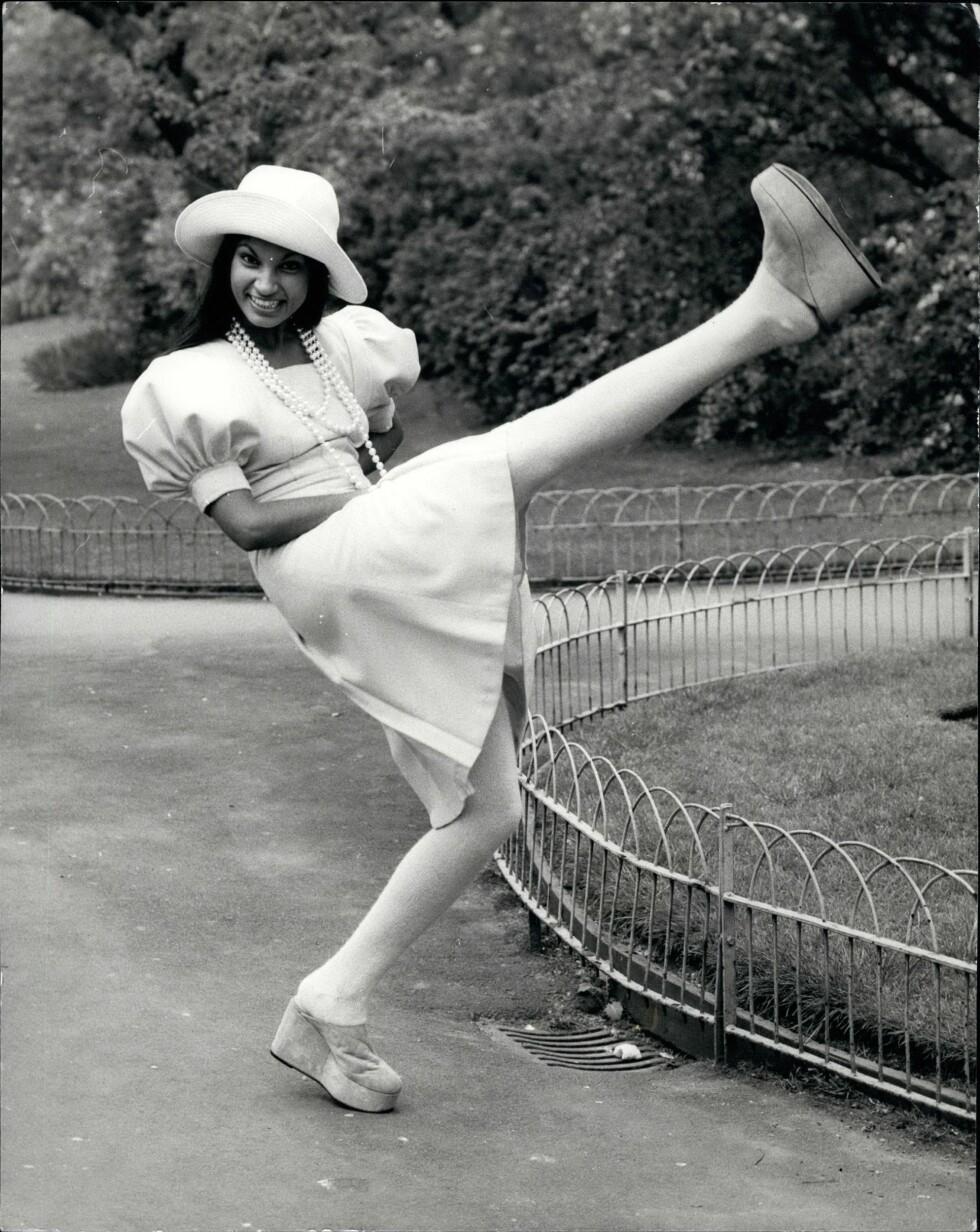 1972: Modellen poserer for Mary Quants kolleksjon fra 1972. Foto: Zuma press