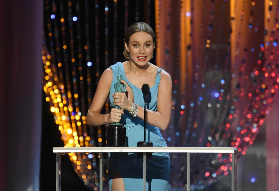 <strong>BRIE LARSON:</strong> 26-åringen stakk av med beste kvinnelige hovedrolle under SAG Awards i januar, og det er også denne filmen hun er Oscar-nominert for. Foto: NTB Scanpix
