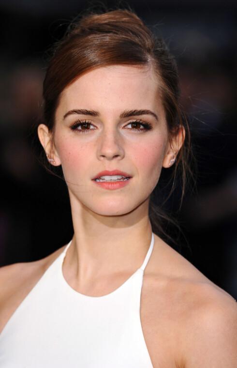 EMMA: Emma (som i Emma Watson - på bildet) var det mest populære jentenavnet i Norge i fjor, ifølge Dagbladet.no. Emma-navnet er utledet fra det tyske ordet «ermen» som betyr «hel» eller «universal». Foto: REX/David Fisher/All Over Press