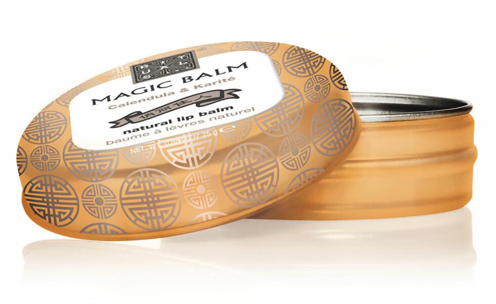 Beskyttende og pleiende eppebalm med galendula og sheasmør (kr 80, Rituals, Magic Balm). Foto: Produsenten
