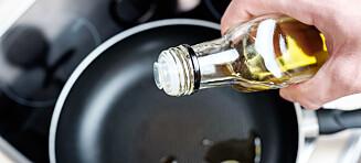 - Olivenolje kan brukes til steking