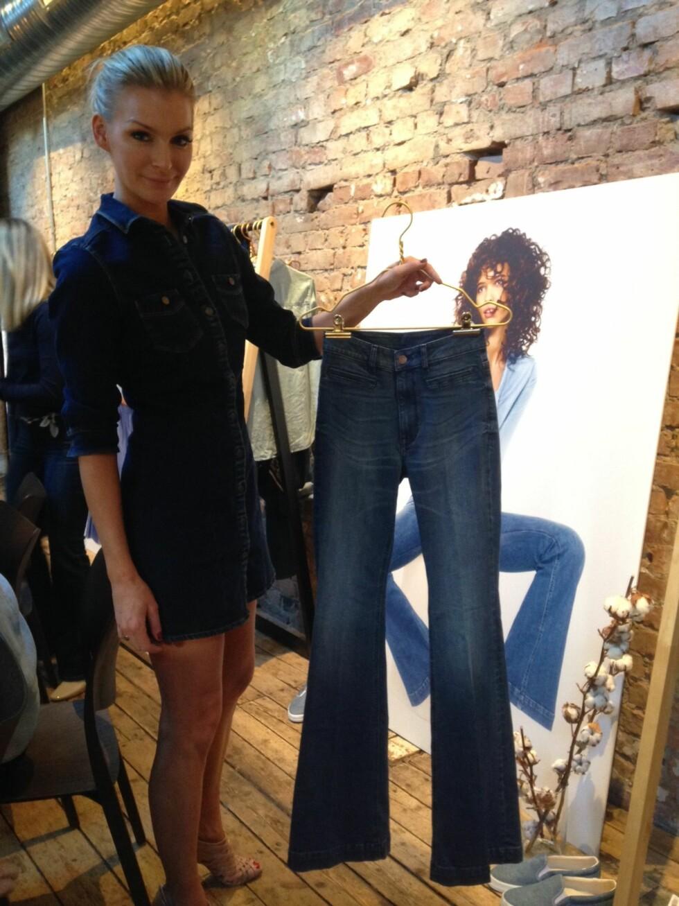<strong>KATHRINE SØRLAND:</strong> Modellen viser deg hvilke jeans som kan passe til din form. Les alle tipsene i saken! Foto: Ida Sandli Jensen