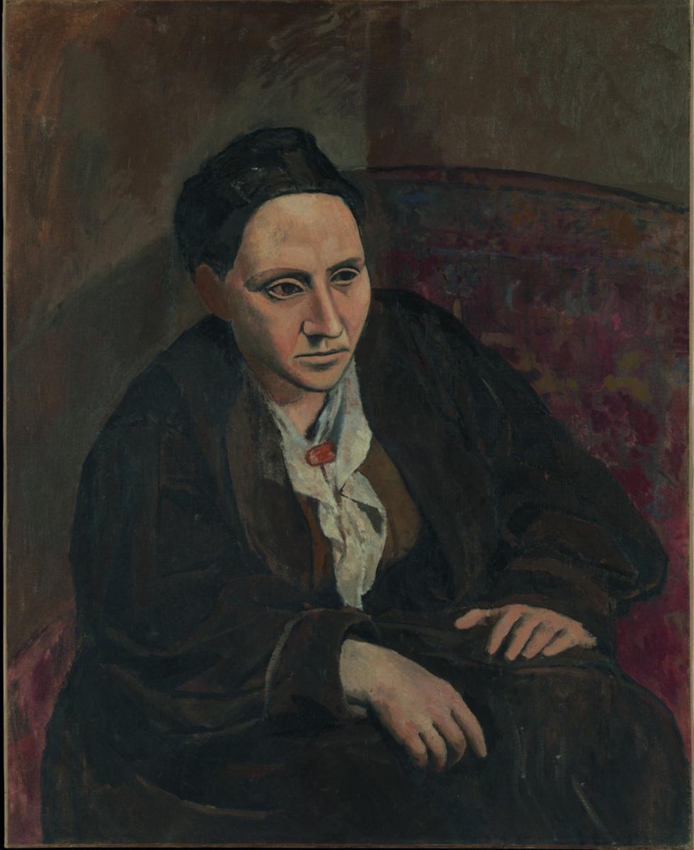 MALT AV PICASSO: Gertrude Stein måtte sitte nitti ganger for Pablo Picasso før han så seg fornøyd med maleriet av henne.