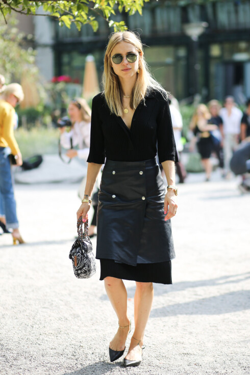 Street style, Pernille Teisbaek arriving at Carin Wester Spring Summer 2016 show held at Berns Hotel, in Stockholm, Sweden, on August 25th, 2015. Photo by Marie-Paola Bertrand-Hillion/ABACAPRESS.COM Foto: Scanpix