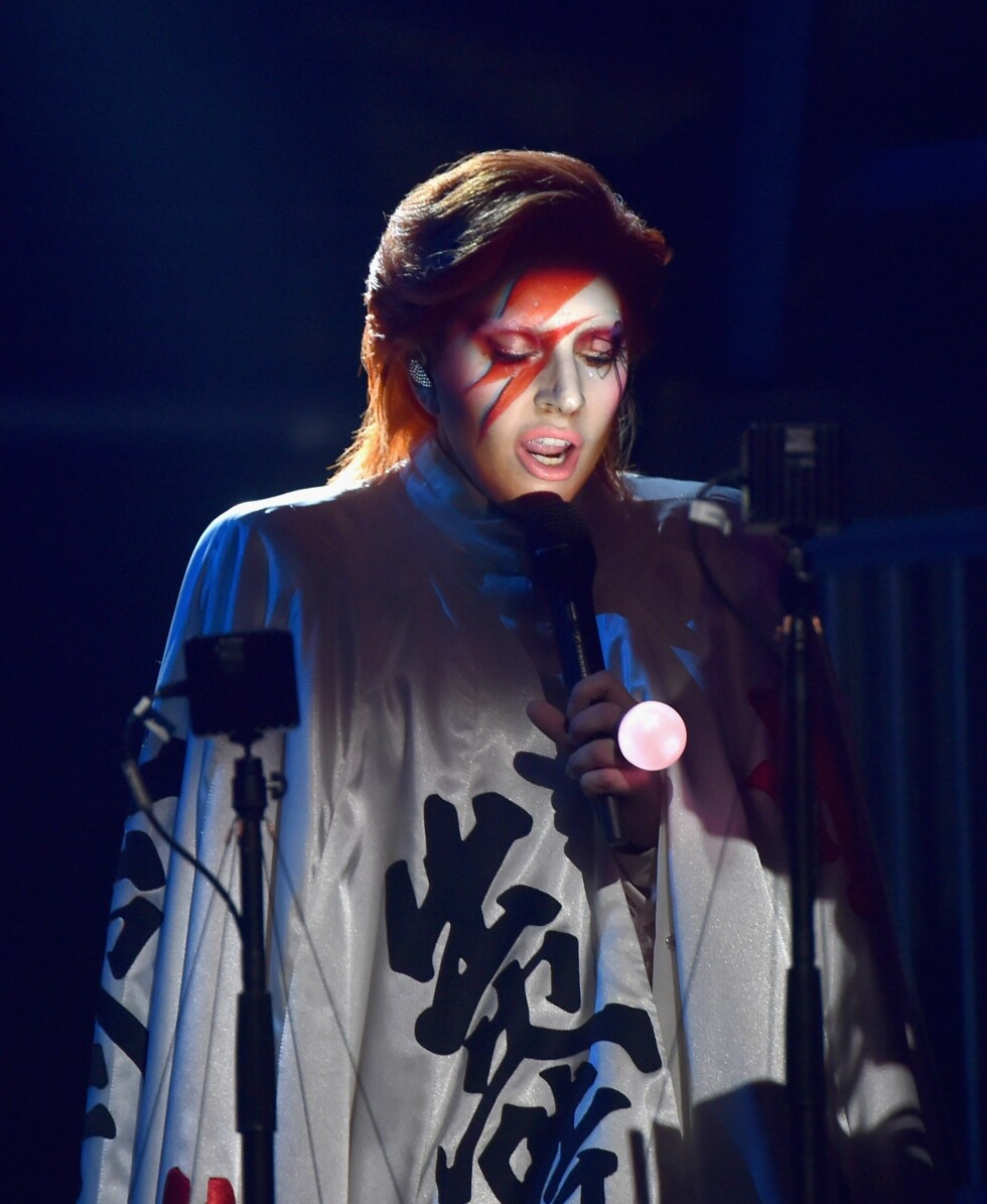 Lady Gags hyllest til David Bowie Foto: Afp
