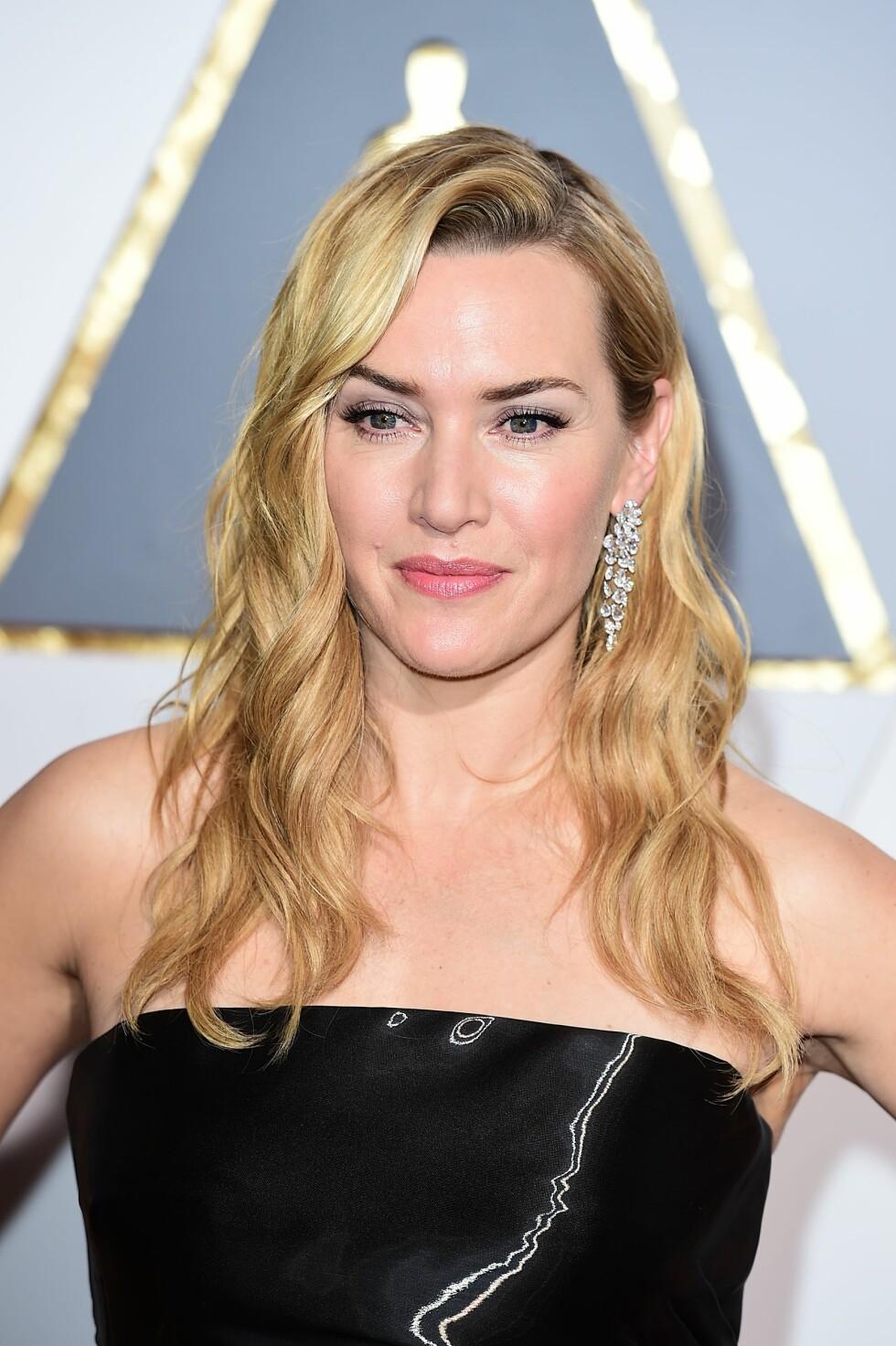 KATE WINSLET: Skuespilleren gikk for eyeliner og en naturlig leppe. Foto: Pa Photos