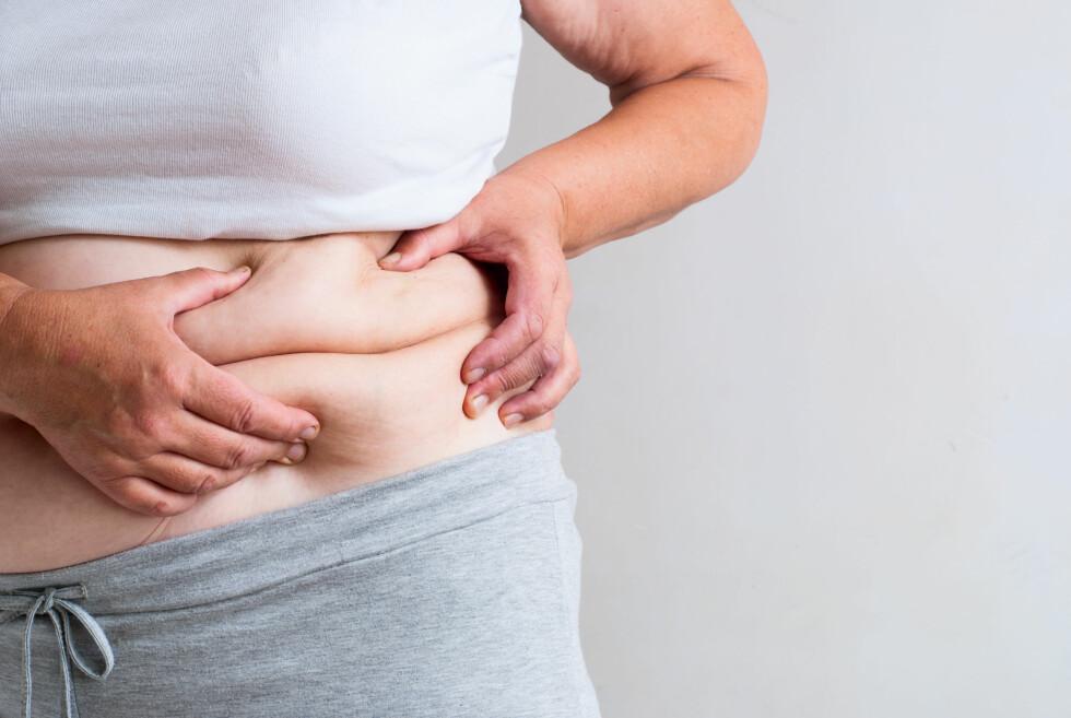 Å HA FOR MYE BUKFETT: Det å ha for mye bukfett øker risikoen for for å få type 2-diabetes, samt hjerte- og karsykdommer. Foto: Shutterstock / AlexeiLogvinovich