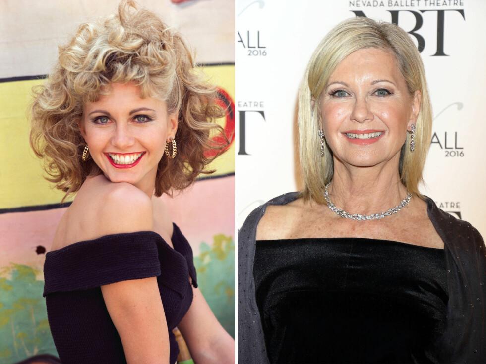 LIKE VAKKER: Det er hele 38 år siden Olivia Newton-John spilte uskyldige (i alle fall i begynnelsen!) Sandy, men hun ser like bra ut i dag. Foto: Scanpix
