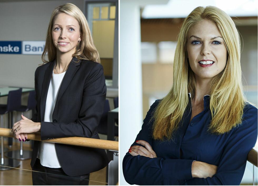 EKSPERTENE: Maria Setsaas i Danske Bank og Elin Reitan i Nordea forteller om små endringer som gir store gevinster.  Foto: Danske Bank/Nordea