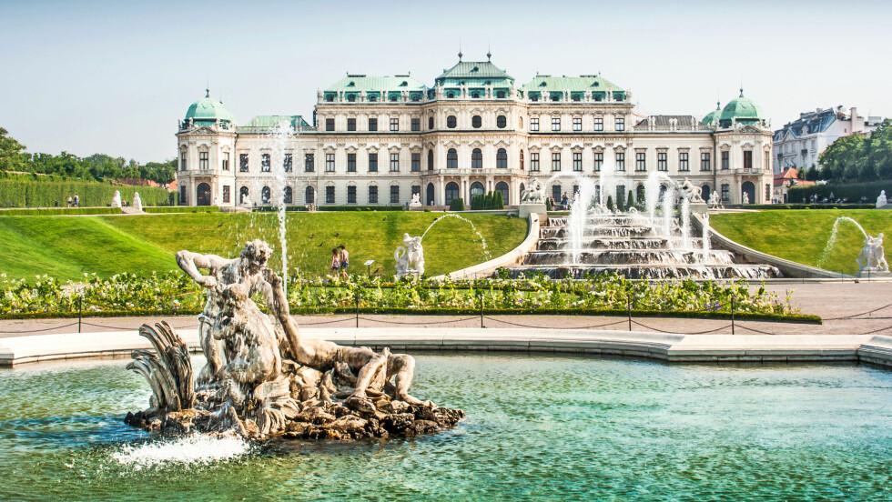 MUST: Dersom du er i Wien, må du ta deg tid til å dra til vakre Belvedere – et nydelig palassområde fra barokken. Foto: Shutterstock