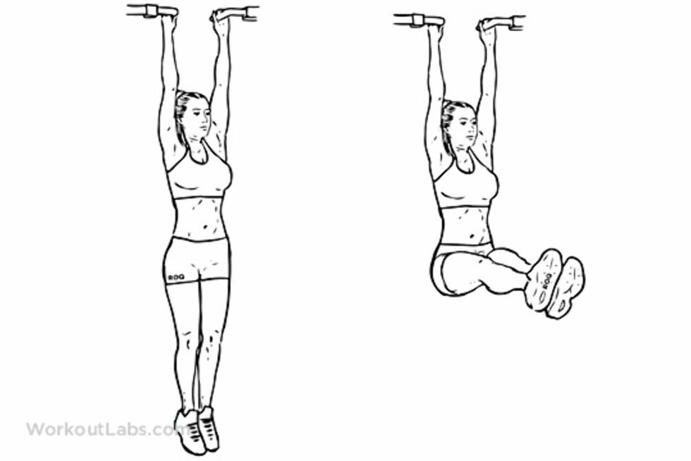 BENHEV: Denne øvelsen skal være en av de mest effektive for å oppnå orgasme på trening.  Foto: Workoutlabs