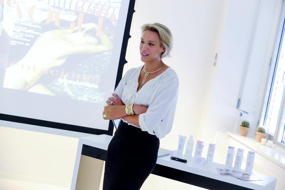 RENS HUDEN SKIKKELIG: Ifølge hudpleiegründer Emma Wiklund bør alle kvinner bli flinkere til å rense huden skikkelig.  Foto: Per Ervland