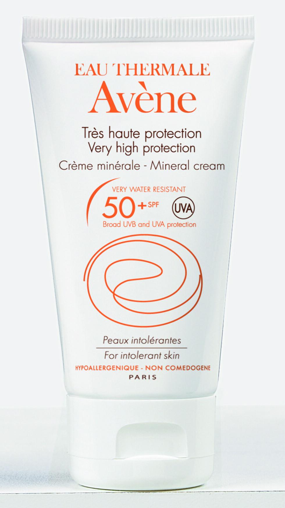 Sun Mineral Cream fra Avène, SPF 50, kr 219.  Foto: Produsenten