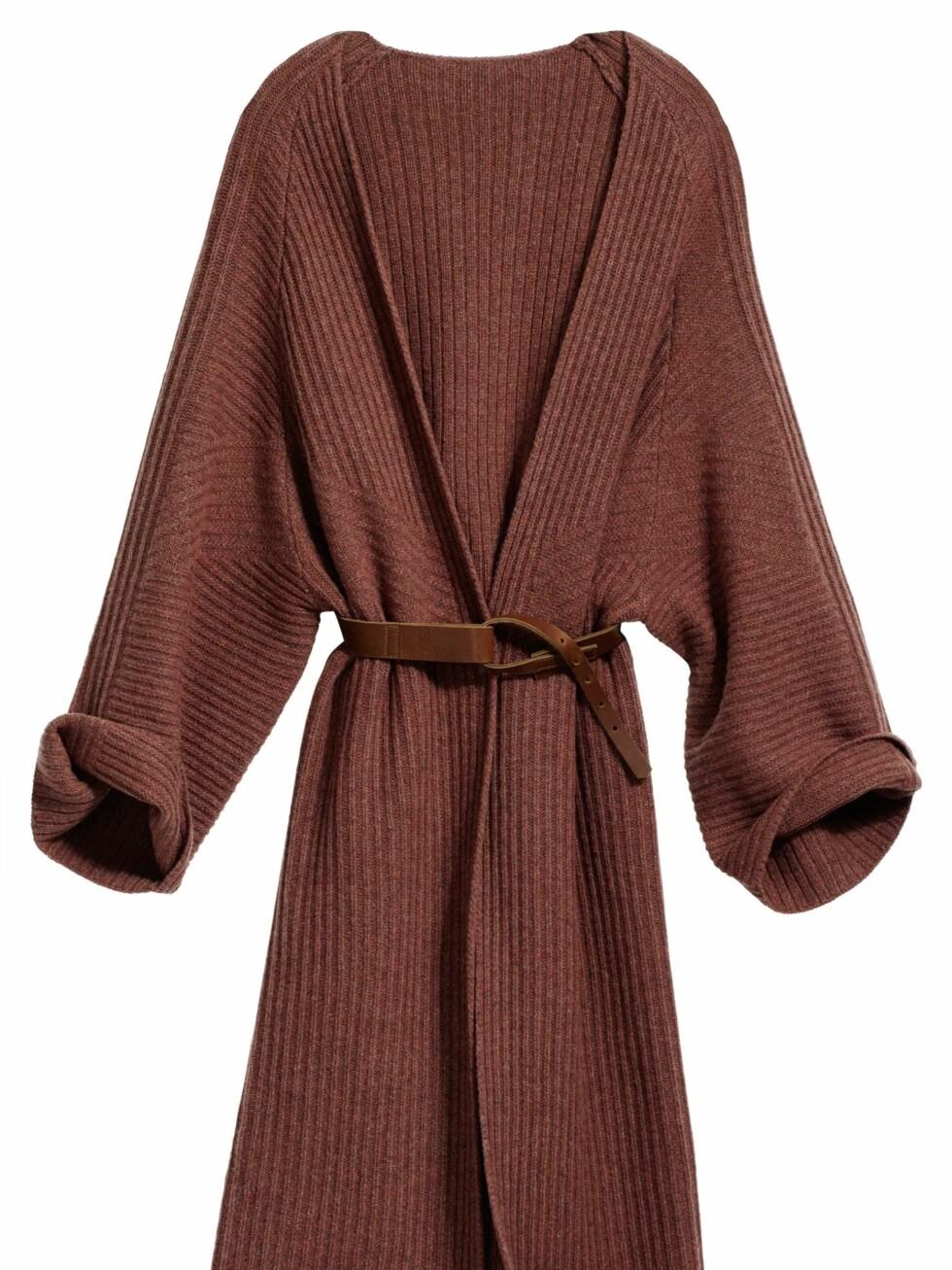 Lang cardigan i høstens it-farge, rust, kr 599. Foto: Produsenten