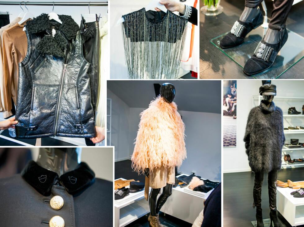 INSPIRERT AV PARIS: H&Ms nye kolleksjon er inspirert av kvinnene og klesstilen i Paris. Her er det mye skinn, lekre detaljer, fuskepels og kule accessoirer.  Foto: Per Ervland