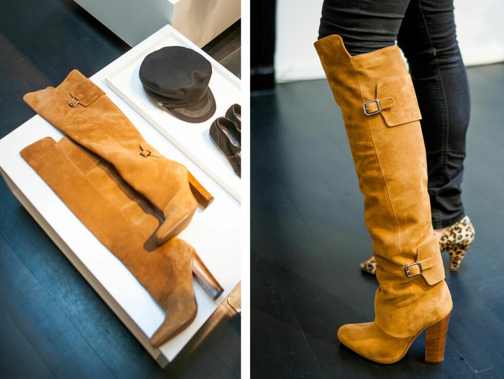 LÅRHØYE ER TILBAKE: Lårhøye boots ala Pretty Woman gjør for alvor comeback i høst.  Foto: Per Ervland