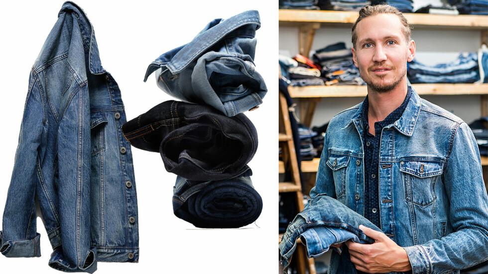 MILJØBEVISST MOTE: H&M lanserer neste uke en ny deminkolleksjon som er laget av resirkulert bomull fra klærne som er levert inn av kundene deres.  Foto: HM