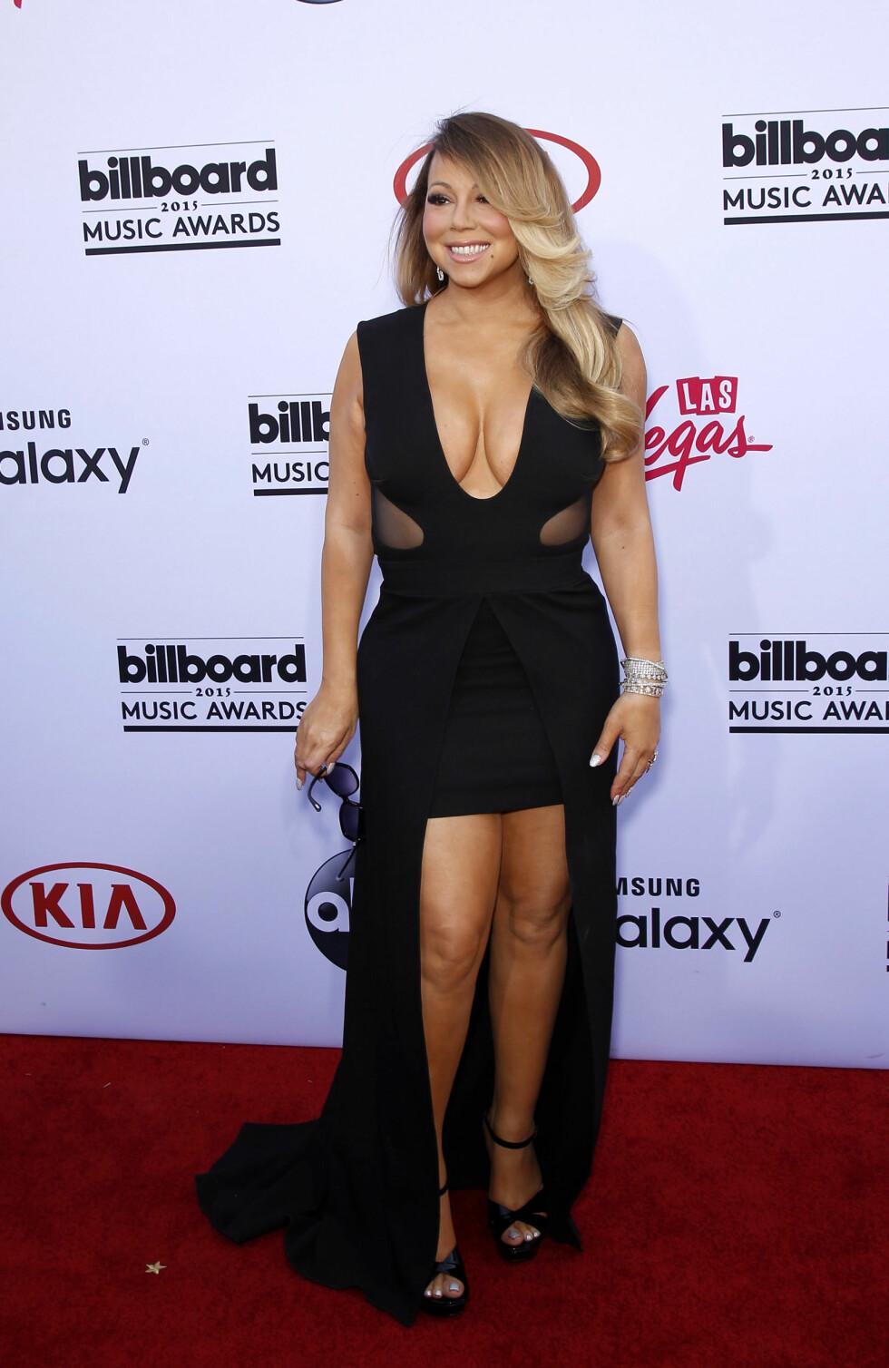 UTRINGNING: Mariah Carey velger ofte antrekk med dyp utringning. Foto: wenn.com Scanpix