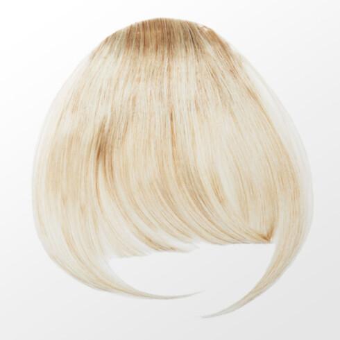 CLIP ON LUGG: Ønsker du å prøve ut lugg, kan du for eksempel kjøpe en clip on, sånn som denne fra Glitter (149 kr).  Foto: Produsenten