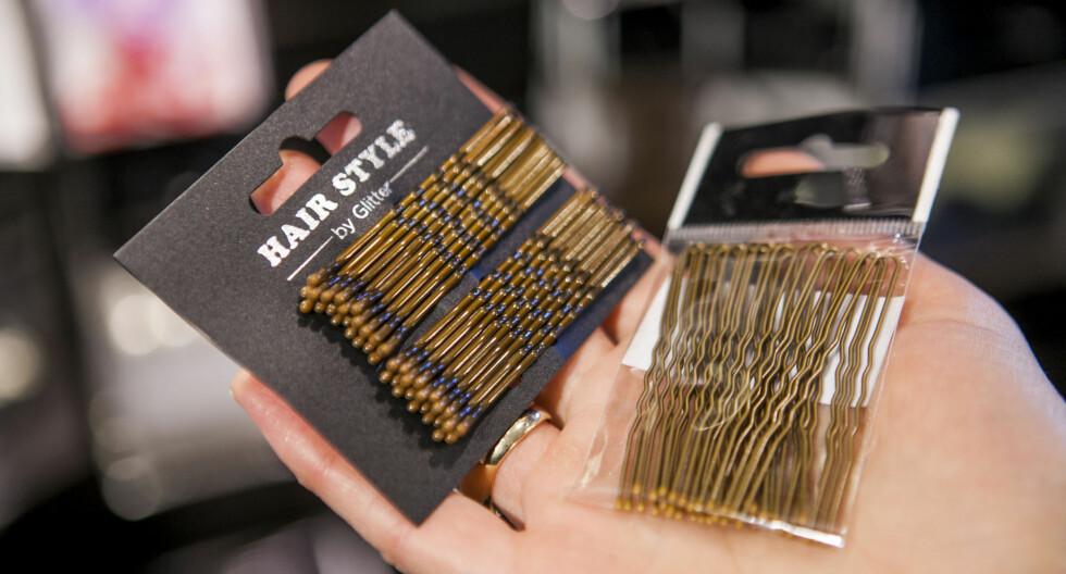 FORSKJELL PÅ LØSE OG STRAMME HÅRNÅLER: Det gjelder å vite hvilken nål som skal brukes når.   Foto: Per Ervland